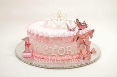 First birthday cake, butterfly cake, princess cake Cupcake Cakes, Cupcakes, Cake Decorating With Fondant, Sweetarts, Butterfly Cakes, First Birthday Cakes, Future Goals, Custom Cakes, Eat Cake