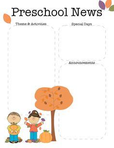 Fall Preschool Newsletter Template   The Crafty Teacher ...