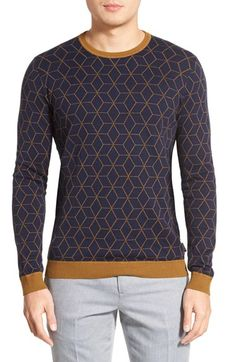 Ted Baker London 'Lochee' Jacquard Crewneck Sweater