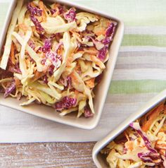 This Creamy Coleslaw plays double duty. It's a fabulous - and easy - side dish, but it's also the perfect topping for pulled pork or burgers.
