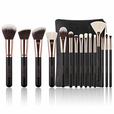 Docolor Makeup Brushes Powder Foundation Eyeshadow Make Up Brushes Set Cosmetic Brushes Soft Synthetic Hair It Cosmetics Brushes, Eyeshadow Brushes, Eyeshadow Makeup, Eyeliner, Cosmetic Brushes, Makeup Cosmetics, Safe Cosmetics, Cosmetic Kit, Rose Gold Makeup