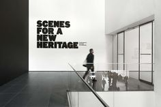 Scenes For A New Heritage - The Department of Advertising and Graphic Design Museum Exhibition Design, Exhibition Space, Design Museum, Exhibition Banners, Wayfinding Signage, Signage Design, Environmental Graphics, Environmental Design, Wall Text