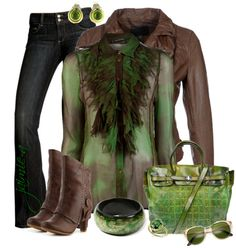 """""""Ruffled Blouse & Leather"""" by jaimie-a on Polyvore"""