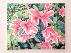 Las flores de mi jardín - Olio su tela  40X50 cm - Edy Antúnez - Milano Italia