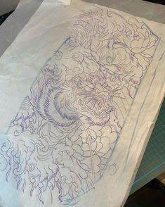 Tiger Sketch, Japanese Tattoo Art, Oriental, Sketches, Tattoos, Instagram, Drawings, Tatuajes, Tattoo