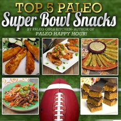 Paleo Girls Kitchen: Top 5 Paleo Super Bowl Snacks Check out the website to see Good Healthy Recipes, Paleo Recipes, Real Food Recipes, Paleo Food, Healthy Food, Paleo Appetizers, Appetizer Recipes, Best Party Snacks, Nom Nom Paleo