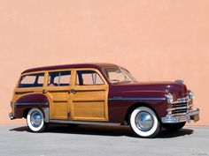 Plymouth-Woody-Stationwagon 1950