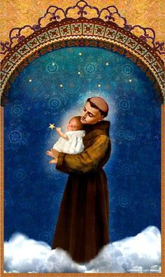 Saint Anthony Poster Print by pocketfullofmiracles on Etsy, $18.00