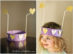 Valentine's day headband craft - would be great for school class party Valentine's Day Crafts For Kids, Valentine Crafts For Kids, Daycare Crafts, Classroom Crafts, Valentines Day Party, Craft Kids, School Holiday Party, Holiday Fun, Holiday Ideas
