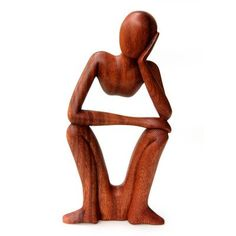 Balinese Thinking Man Wooden Sculpture Wow I recognise this piece! it's sitting in my lounge. Wood Tile Bathroom Floor, Wood Sculpture, Sculpture Ideas, Metal Sculptures, Abstract Sculpture, Bronze Sculpture, Woodworking Jigs, Balinese, Wood Carving