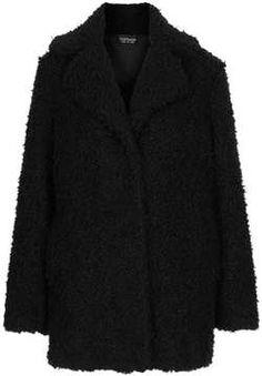 Teddy Fur Pea Coat on shopstyle.com