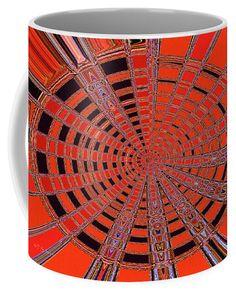Dead Tree Oval #1 Abstract Coffee Mug by Tom Janca.  Small (11 oz.)