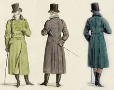 Left, Fashion Plates, Regency, Newspaper, Book Covers, 19th Century, My Books, Fur Coat, Men's Fashion