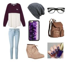 """""""I'm a classic nerd"""" by mylittlepokemon on Polyvore featuring Victoria's Secret, Frame Denim, Nature Breeze, H&M and Wildflower"""