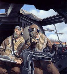 """G.I. Joe """"Battle of Britain"""" box art by Larry Selman - Heinkel He111 cockpit"""