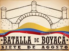 Hand Drawn Boyaca's Bridge and Colombian Flag for Boyaca's Battle Colombian Flag, Free Vector Art, Facebook Sign Up, Image Now, Battle, Bridge, How To Draw Hands, Stock Photos, Hand Drawn