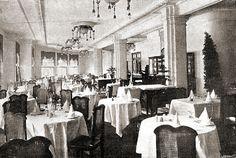 Salón del Hotel Florida. Plaza del Callao. El solar lo ocupa el edifico de El corte ingles, antiguo Galerías Preciados
