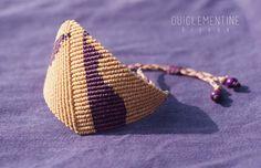Geometric Micro macrame Bracelet by OuiClementine on Etsy