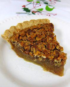Vickie's Boiled Pecan Pie - no more runny pecan pie filling!
