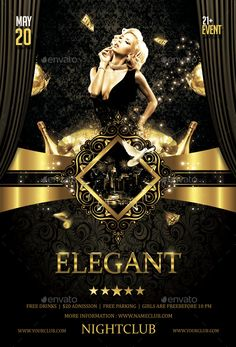 Buy Elegant Party Flyer by on GraphicRiver. Excellent flyer for your next party! Event Poster Design, Flyer Design, Poster Designs, Planets Wallpaper, Banner Background Images, Poster Art, Event Flyer Templates, 50 And Fabulous, Party Poster
