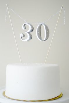 Vintage number cake crafts ideas depot paper making express yourself Number Cake Toppers, Diy Cake Topper, Number Cakes, Pretty Cakes, Cute Cakes, Beautiful Cakes, Amazing Cakes, Number Birthday Cakes, Birthday Cake Toppers