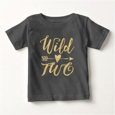 Wild One One Year Old Gold Script Baby T-shirt, Infant Girl's, Size: 6 Month, Black Old Shirts, Dad To Be Shirts, Shirts For Girls, Custom Birthday Shirts, Personalized Birthday Shirts, Personalized Gifts, Wild One Birthday Party, 2nd Birthday, Birthday Ideas