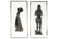 English Medieval-Style Rubbings, Pair on OneKingsLane.com  499  These are half the size of mine