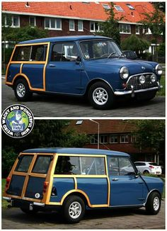Mini Classique 1000 Break Bois Break Bleu Minis Mini Countryman