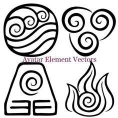 Avatar Element Vectors by sweetangel1927