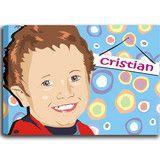 Crea il quadro su tela del tuo bimbo in stile vettoriale partendo da una foto e personalizzalo a piacimento (anche con una vignetta)  www.crearti.eu