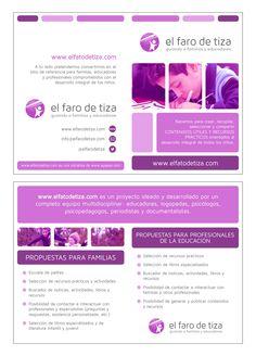 Brochure design for El Faro de Tiza (Agapea Libros Urgentes)