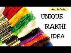 #DIY Rakhi #How to Make Beautiful Rakhi at Home #Handmade Rakhi for Competition By Arty & Crafty - YouTube Birthday Gift Picture, Bracelet Tutorial, Diy Bracelet, Bracelets, Diy For Kids, Crafts For Kids, Handmade Rakhi Designs, Rakhi Making, Amazing Science Facts