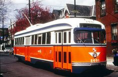 PCC  air  car  #2031  operating  on  Rt  13 in  Philadelphia  during  the  1970s