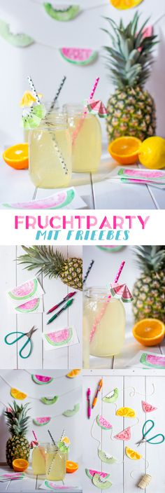 Fruchtalarm: Freebies für deine Frucht-Party! {mit Freebies}