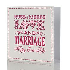 Red Words Wedding Invitation Cards - Confettii