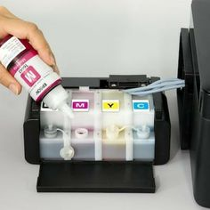 Say goodbye to printer ink cartridges: Epson's latest Ink Tank System printers cover a wide range of home and business requirements without the need for ink cartridges. Printer Cover, Printer Ink Cartridges, Diy And Crafts, Samsung, Organization, Business Requirements, Epson, Coffee Time, Printers