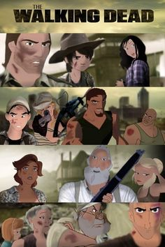 The Walking Dead All Characters | Disney characters play The Walking Dead. Can you... | Le Rage Shirts ...