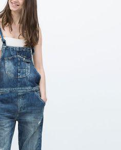DENIM DUNGAREES Denim Dungarees, Overalls, Suspender Pants, Zara United States, Latest Trends, Spring Summer, Jumpers, Jeans, Casual