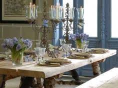 French Inspired Dining Rooms and Table Settings | Inspiring Interiors
