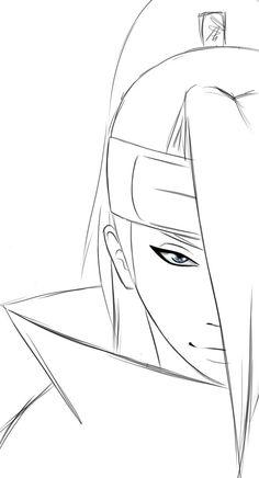 Art is a bang! Naruto Sketch, Naruto Drawings, Anime Drawings Sketches, Naruto Art, Anime Sketch, Anime Naruto, Dark Art Drawings, Pencil Art Drawings, Easy Drawings