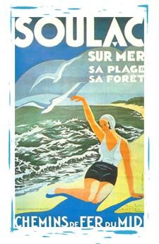 vintage travel poster deauville deauville la plage fleurie normandie affiches voyage. Black Bedroom Furniture Sets. Home Design Ideas