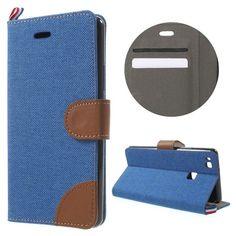 Javu - Huawei P9 Lite Hoesje - Wallet Case Dutch Design Denim en Leer Donker Blauw | Shop4Hoesjes
