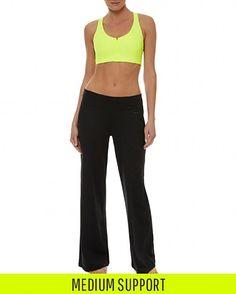 e5aeae91abd3e Sweaty Betty - Upbeat Padded Workout Bra - yellow orange Athletic  Underwear