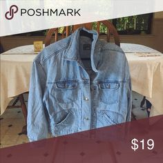 90s Jean Jacket Vintage Jean jacket. Perfect shade. Size L for the perfect over sized look. Completes an outfit! Vintage Jackets & Coats Jean Jackets