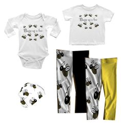 """""""busy as a bee baby fashion"""" by felicia-stevenson on Polyvore featuring Baby, bee, bees and babyfashion"""