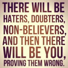 Prove them all wrong, Start your Thrive Experience today!  www.brookemcdowell.le-vel.com