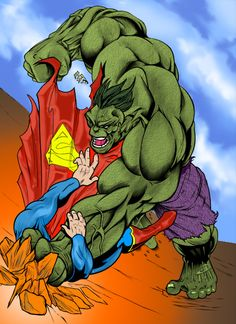 The Hulk vs. Superman by ~Chromafly on deviantART