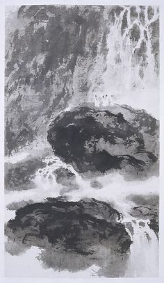 Gazing at a Waterfall, Fu Baoshi Chinese Landscape Painting, Chinese Painting, Chinese Art, Landscape Paintings, Chinese Brush, Landscapes, Ink Painting, Watercolor Paintings, Chinese Contemporary Art