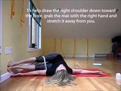 ▶ Wall variation of Jathara Parivartanasana (revolved abdomen pose) - YouTube