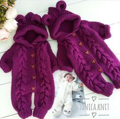 Ravelry: Baby Overalls with de Knitting For Kids, Baby Knitting Patterns, Baby Patterns, Hand Knitting, Cardigan Bebe, Baby Cardigan, Pinterest Baby, Pull Bebe, Baby Overalls